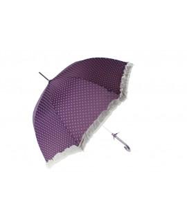Paraguas Sra. de color azul con volantes