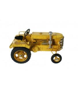 Tractor amarillo de metal