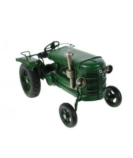 Tractor verde de metal