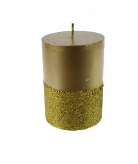 Espelma purpurina daurada