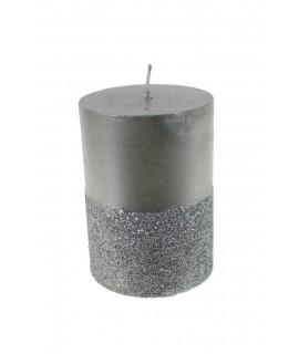 Espelma purpurina platejada
