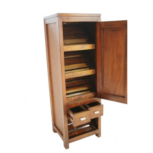 Armario zapatero en madera maciza de mindi decoraci n rustico for Zapateros madera baratos