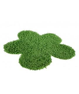 Alfombra baño algodón flor verde