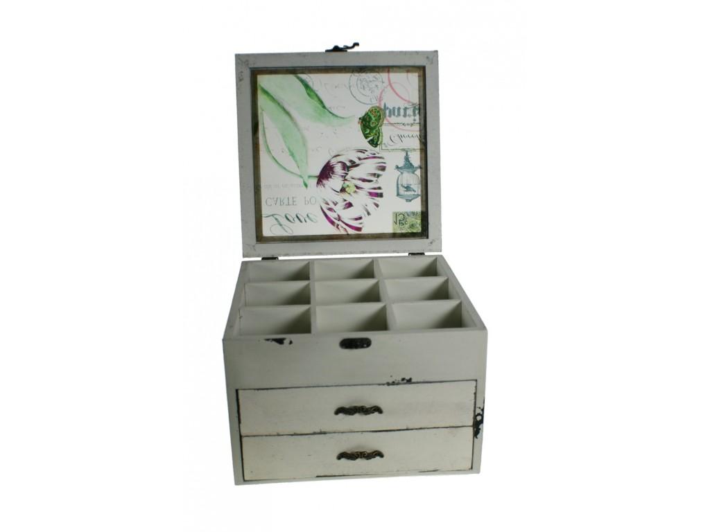 Comprar online costurero caja de madera maciza color - Separadores para cajones ...