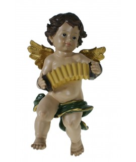 Ángel tocando acordeón