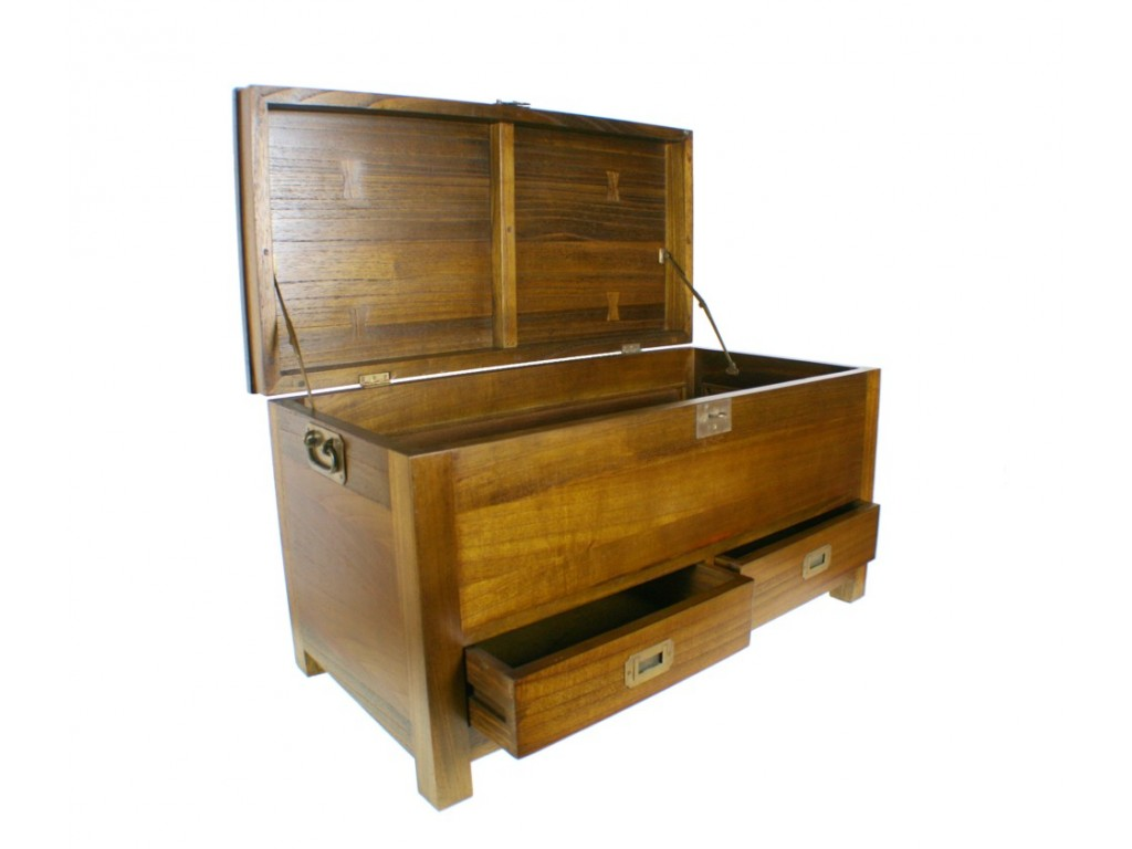 Ba l de madera con candado y cajones - Baules baratos madera ...