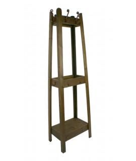Perchero madera con estantes