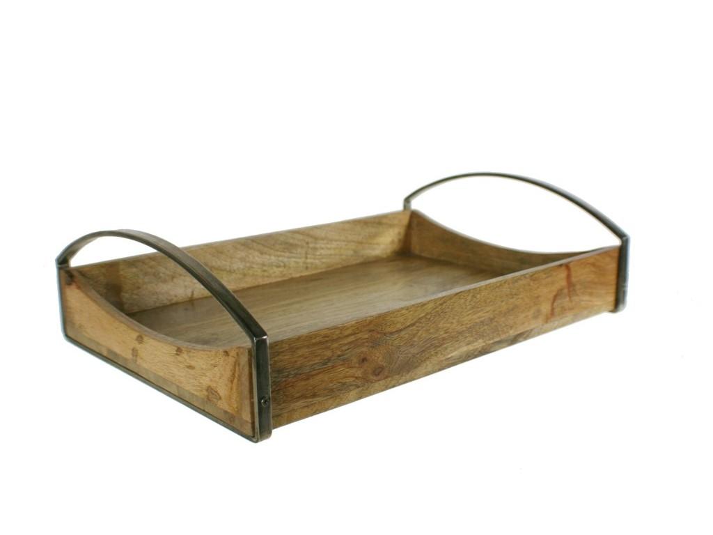 Bandeja de madera y metal para cocina estilo n rdico - Bandeja de madera ...