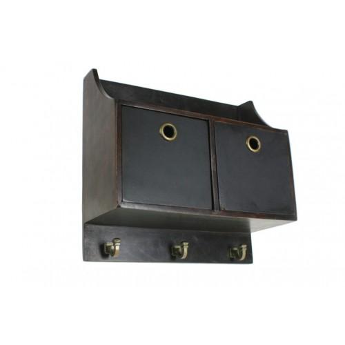 Mueble colgador pequeño decoración  pizarra. Medidas totales: 32x34x14 cm.