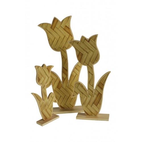 Tulipanes de madera