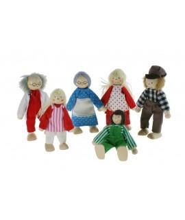 Família, muñecos articulados