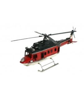 Helicóptero 4 aspas metal rojo