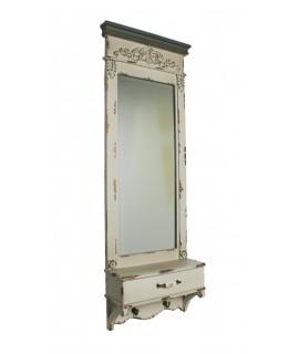 Espejo de pared blanco