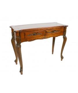 Consola de madera con talla. Medidas totales:76x98x40 cm.