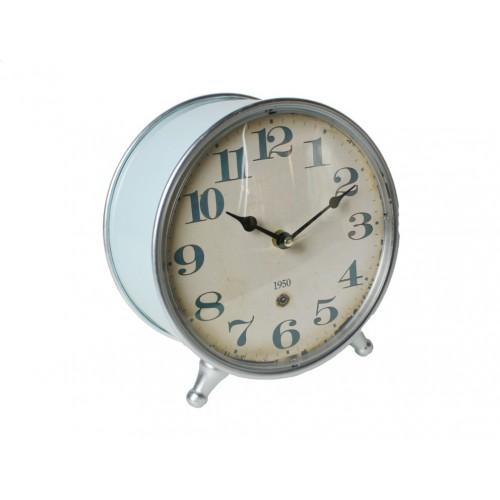 Rellotge de sobretaula blau