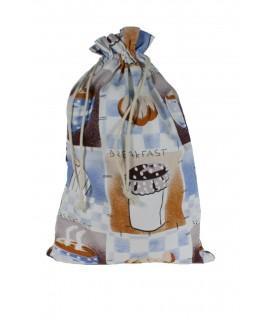 Bolsa para el pan de tela estampada