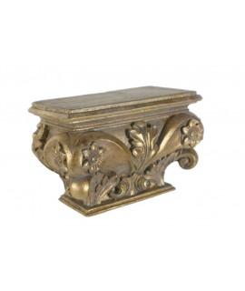 Mènsula daurada rectangular per penjar a la paret