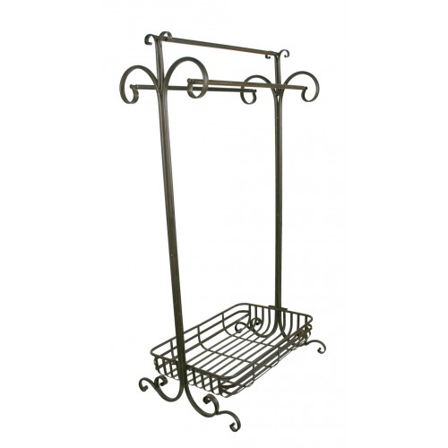 Colgador de toallas forja decoracion hogar rustico ba o for Colgador toallas para bano