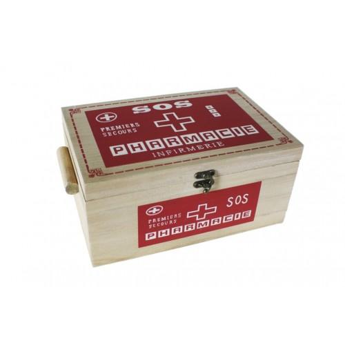 Caixa de fusta amb safata extraïble per medicines