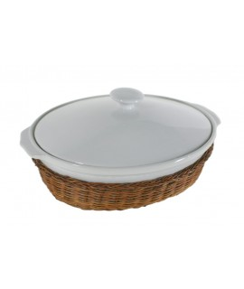 Sopera fuente grande para horno de porcelana