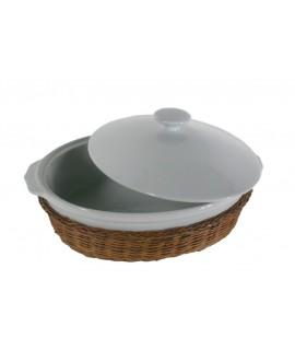 Cazuela fuente mediana para horno de porcelana