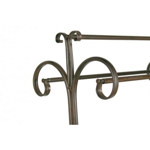 Colgador de toallas forja decoracion hogar rustico ba o for Colgador de toallas de bano