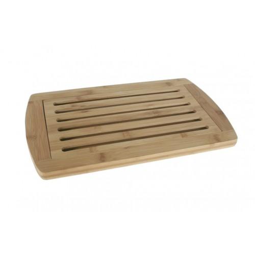 Post de fusta amb reixa per tallar el pa