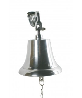 Campana de bronze platejada Ø 17 cm. alta sonoritat