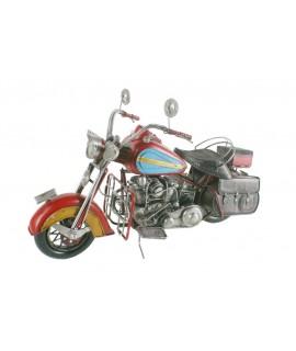 Moto grande de metal decoración vintage. Medidas: 32x60x20 cm.