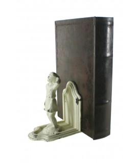 Juego de dos sujetalibros de hierro fundido con figura. Medidas: 16x12x8 cm.