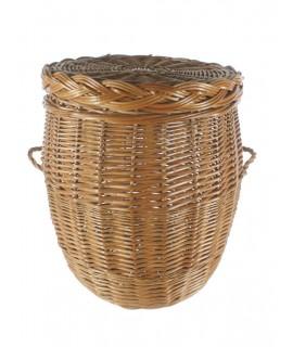Roper de vímet color mel amb tapa. Mesures: 45xØ37 cm.