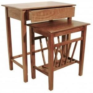 Mesas revisteros plateros madera r sticos cal fuster - Mesas auxiliares comedor ...