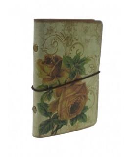 Libreta pequeña de bolsillo y para bolso con tapas decoradas estilo vintage