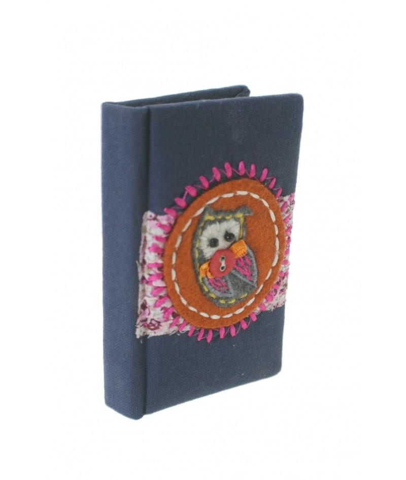 Libreta pequeña de bolsillo y para bolso tapa color azul