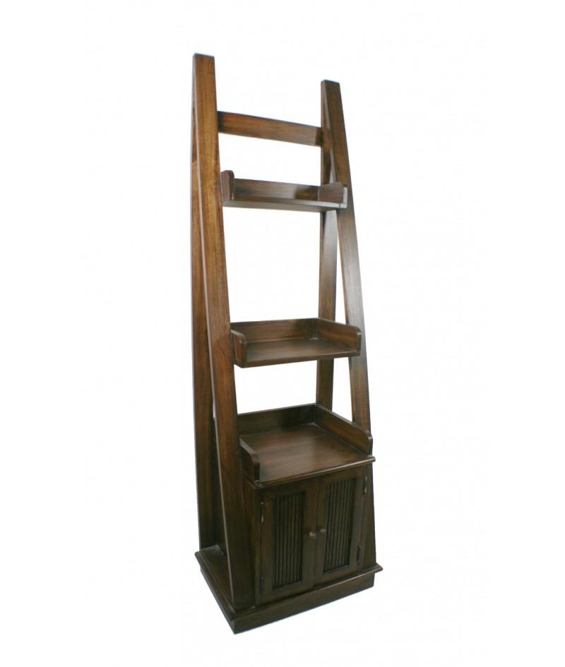 Estantería librería de madera maciza con armario inferior
