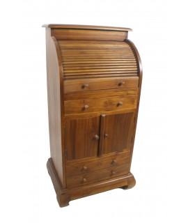 Petit bureau de style américain en teck en bois massif pour pièce de collection unique du modèle d'ambiance rustique