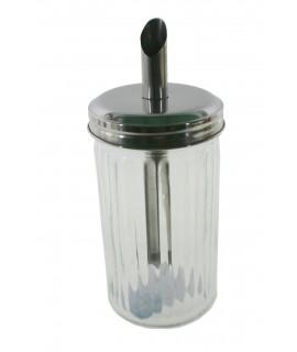 Azucarero bote dosificador tamaño grande de cristal estilo clásico menaje de cocina