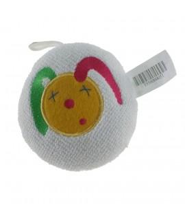 Éponge de bain infantile blanche avec cadeau de dessin pour nouveau-né