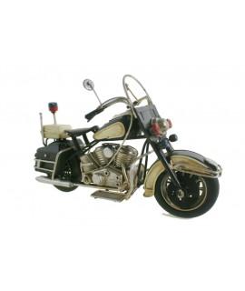 Décoration de moto en métal style rétro couleur noir blanc pour collectionneurs.