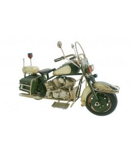 Moto decoració en metall color cerd estil retro per a col·leccionistes.