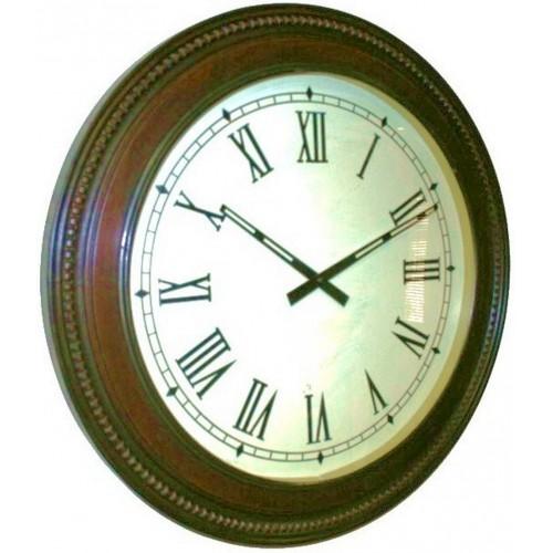 Reloj pared grande de madera maciza con forma redondo decoración hogar