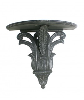 Support de lame en forme de croissant sculpté patine du bois. Mesures: 50x25 cm.