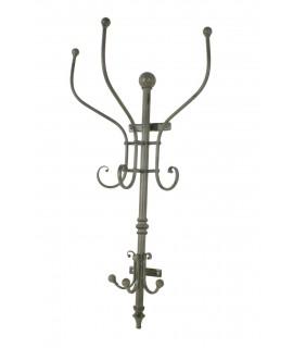 Crochet à crochet vertical vintage en métal avec six crochets