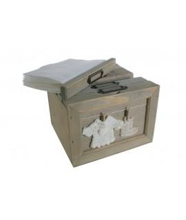 Caja madera portafotos para copias 10x15 cm
