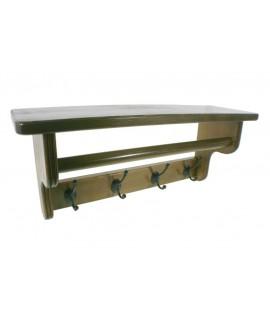 Penjador penjador amb barreter i barra per bufandes de fusta color castany