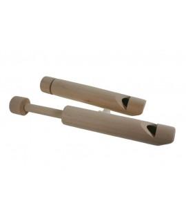 Flauta musical de ebolo en fusta de faig