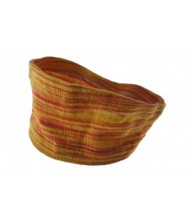 Cinta elàstica diadema de cotó per al cabell color taronja-groc ideal per esport.
