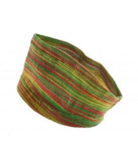 Bandeau élastique en coton pour cheveux orange-vert idéal pour le sport