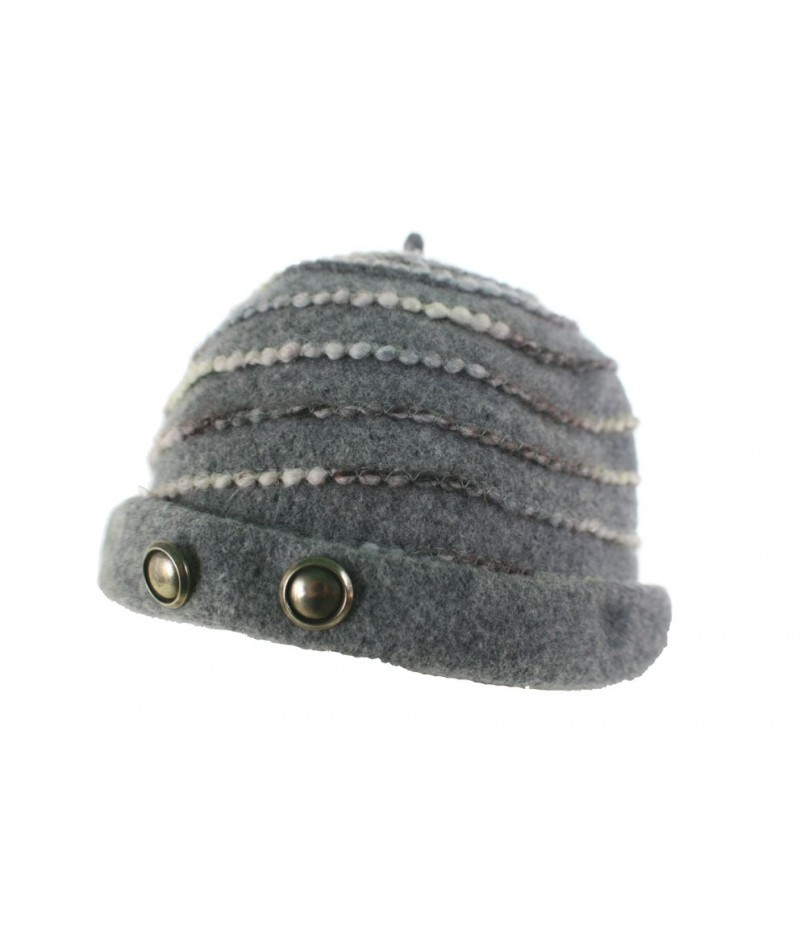 Gorro de invierno de lana forma casquete moda mujer color gris ideal regalo dio de la Madre