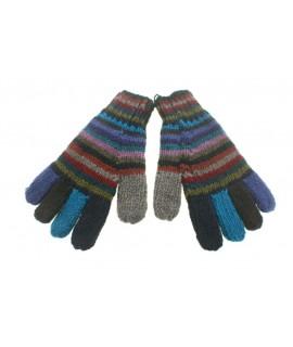 Guantes de lana color azul realizado artesanalmente calientes suaves cómodos para el frio invierno guantes unisex adulto regal